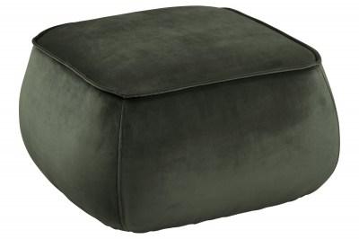 Designová taburetka Nara tmavě zelená kostka