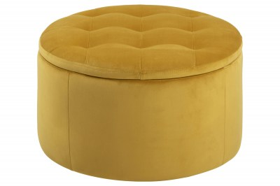 Designová taburetka Nasima žlutá