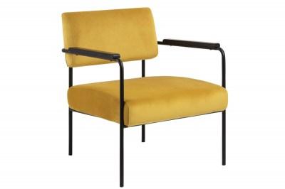 Designové křeslo Nineveh žluté