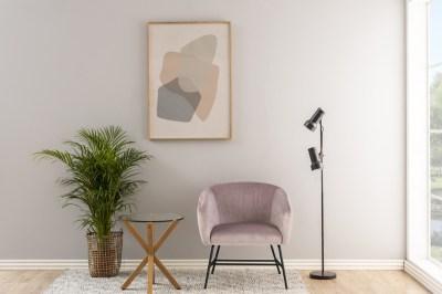 Designové křeslo Nyasia světle růžové