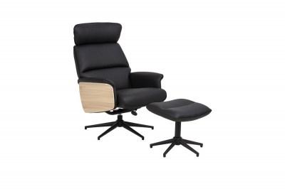 Designové relaxační křeslo Nikina, černé