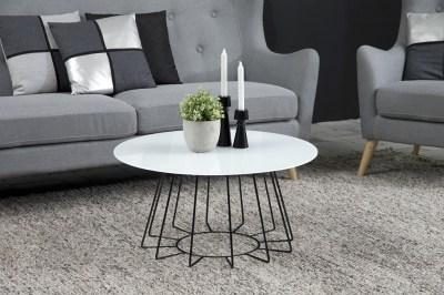 Designový konferenční stolek Ahmed bílá / černá