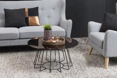 Designový konferenční stolek Ahmed bronzová / černá