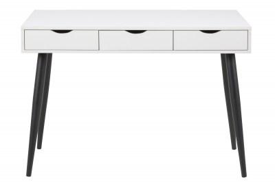 Designový psací stůl Nature 110 cm bílý-černý