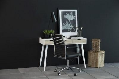 Designový psací stůl Nature 110 cm bílý dub