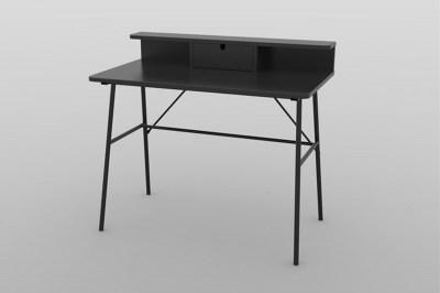 Designový psací stůl Nava 100 cm černý