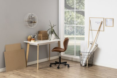 Designový psací stůl Niecy 117 cm bílý