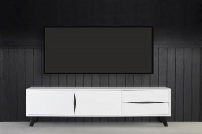 Elegantní TV stolek Aaden, bílá / černá