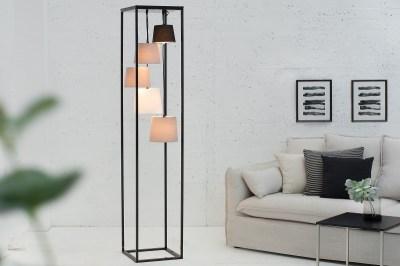 Designová stojanová lampa Shadow II černo-šedá