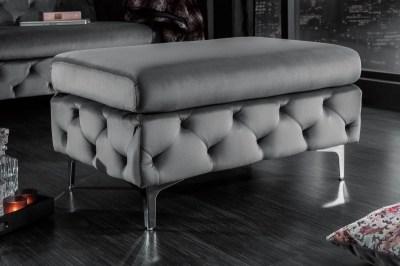 Designová taburetka Rococo šedá