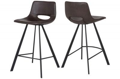 Barová židle Izabella / tmavě hnědá