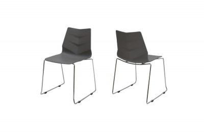 Designová stolička Leona / šedá