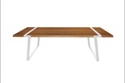 Jídelní stůl Annie 240 cm / bílá-přírodní