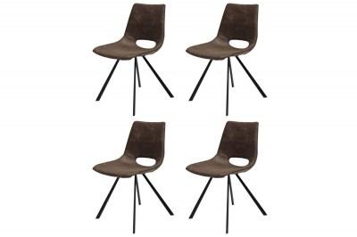 Designová stolička Izabella / hnědá-černá