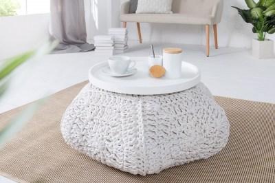 Dizajnová taburetka Lilly II / biela