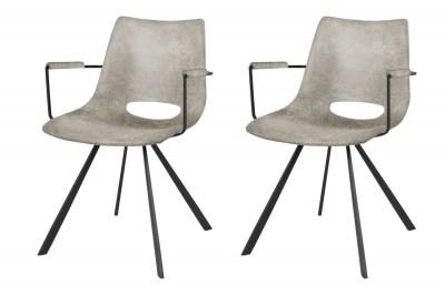 Dizajnová stolička Izabella s opierkami /béžová-čierna