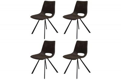 Designová stolička Izabella / tmavě hnědá-černá