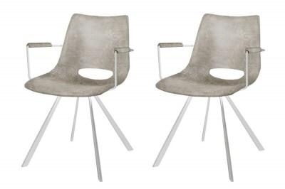 Designová stolička Izabella s opěrkami / béžová
