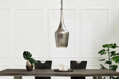 Závěsná lampa Oriental / stříbrná
