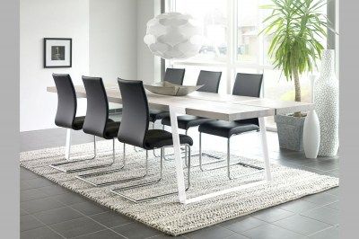 Jídelní stůl Annie 290 cm / bílá-přírodní