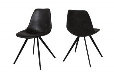 Designová jídelní židle Lucy / černá
