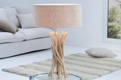 Designová stolní lampa Casablanca / přírodní