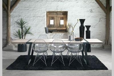 Jídelní stůl Annie 290 cm / bílá-černá