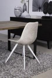 Dizajnová jedálenská stolička Lucy II/ biela