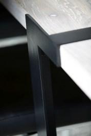 Jedálenský stôl Annie 290 cm / biela-čierna