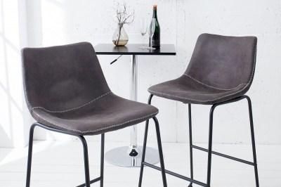 Designová barová stolička Ester / vintage šedá