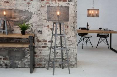 Designová stojanová lampa Metall 155 cm / šedá