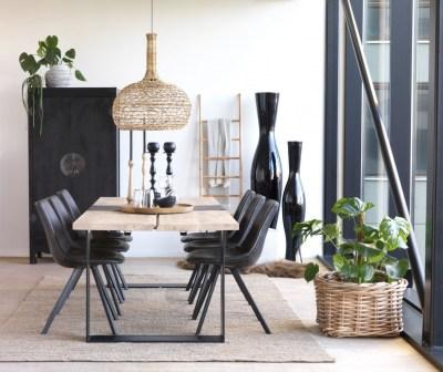 Jedálenská stolička Avril / čierna