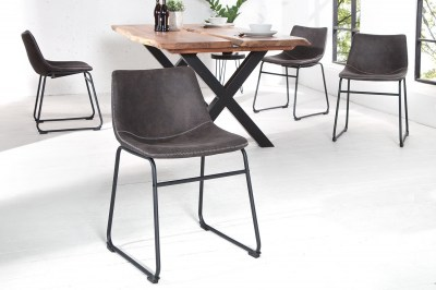 Designová stolička Ester / vintage šedá
