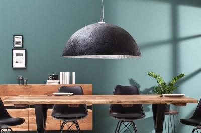 Závěsné svítidlo Heat 50 cm / černá - stříbrná