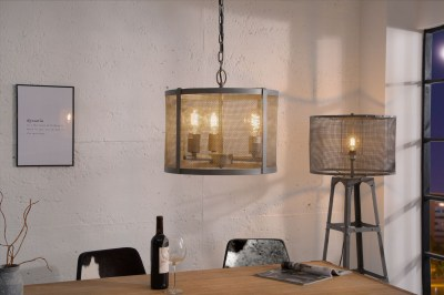 Designová závěsná lampa Metall 40 cm / šedá