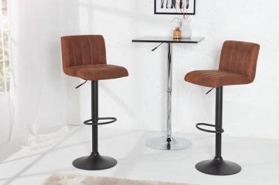 Barová židle Pretty vintage hnědá / 109 cm