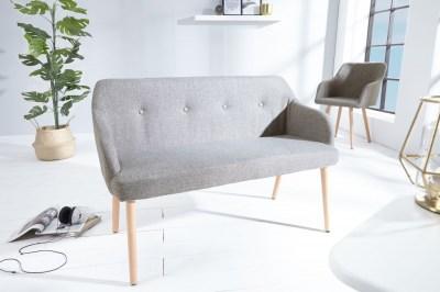 Designová lavice Sweden světle šedá
