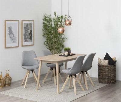 Jedálenský stôl Naiara 150 cm dub biely