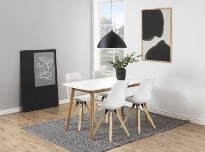 Jedálenský stôl Naiara 150 cm dub biely lak