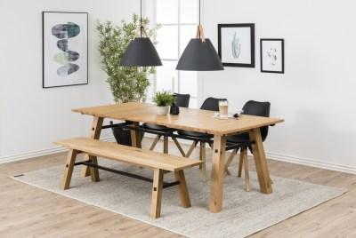 Jedálenský stôl Nayana 210 cm brúseny divoký dub
