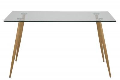 Jedálenský stôl Nayeli 140 cm sklo II