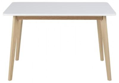 Jedálenský stôl Niecy 120 cm biely lakovaný
