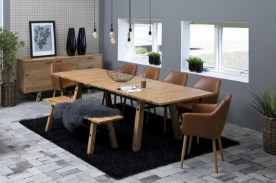 Jídelní stůl rozkládací Nayana 160/250 cm broušený divoký dub
