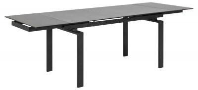 Jedálenský stôl rozkladací Neema 160/240 čierne sklo