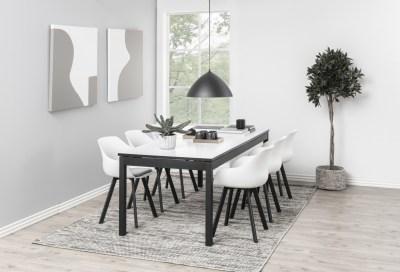 Jedálenský stôl rozkladací Nico 215/315 cm biely