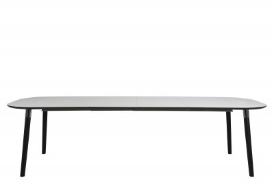 Jedálenský stôl rozkladací Nicolina 180/280 cm biely laminát