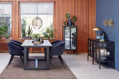 Jídelní stůl Bily černý 170 cm