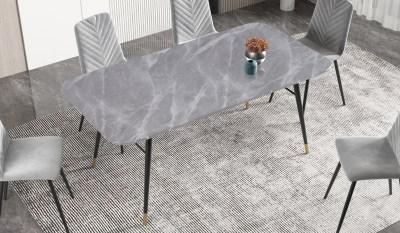 Jídelní stůl Laney 180 cm mramor šedý