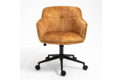 Kancelářská židle Natasha hořčicová žlutá