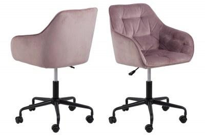 Kancelářská židle Alarik růžová